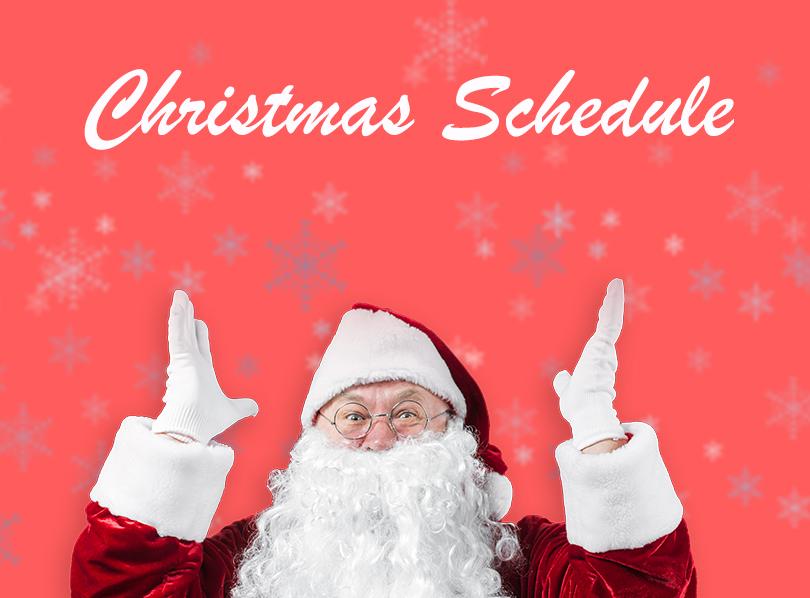 santa christmas schedule